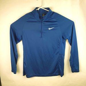 Nike Dri-Fit 1/4 Zip active wear Long Sleeve Shirt